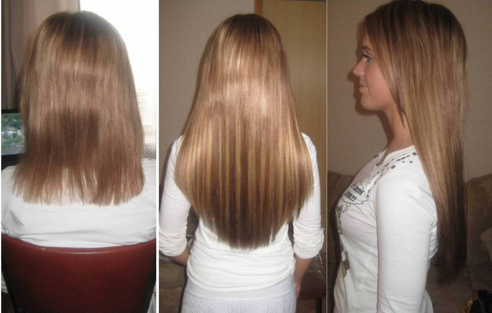 Фото наращивание волос 40 см